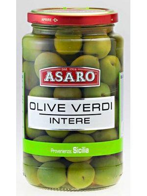 Azeitonas Verde Inteiras Sicilianas Asaro 580g