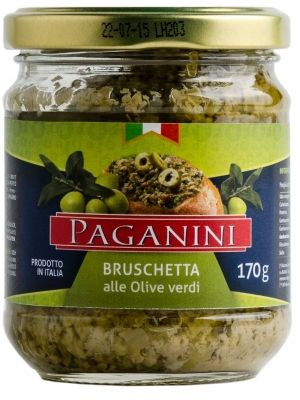 Bruschetta Paganini de Azeitonas Verdes 170g