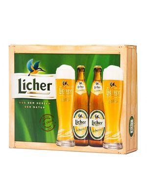 Kit Cerveja LicherWeizen - 2 cervejas + 2 copos 500ml
