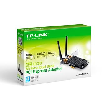 Adaptador Wireless Dual Band AC1300 PCI-Express TP-Link - Archer T6E Ver:1.0