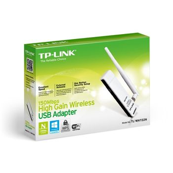 Adaptador USB Wireless TP-Link - TL-WN722N Ver:3.0