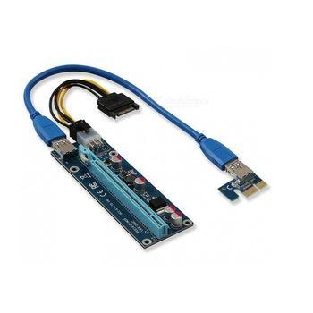 Cabo Riser PCI-E X1 p/ PCI-E X16 USB 60cm - PCE164P-N03 VER006C