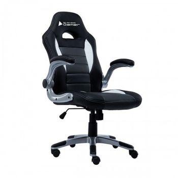 Cadeira BlueCase Gamer Black/Silver - BCH-04WGYBK