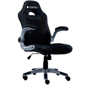 Cadeira BlueCase Gamer Silver Black - BCH-23BK