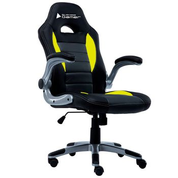 Cadeira BlueCase Gamer Silver Black/Yellow - BCH-09YGYBK