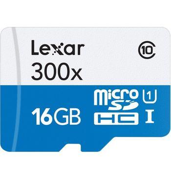 Cartão de Memória Lexar 16GB Micro SDHC UHS-I Class 10 + Adaptador SD - LSDMI16GBB1NL300A