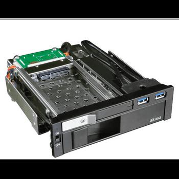 Case/ Gaveta Interna Akasa Lokstor M51 Combo Rack USB 3.0 Sata 2.5' - AK-IEN-01
