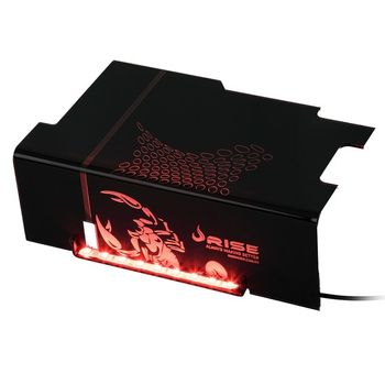 Cover PSU Rise Gaming Scorpion Fire Red Led - RG-CP-01-SK