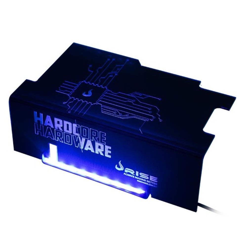 Cover PSU Rise Mode Hardcore Blue Led - RM-CP-01-HD