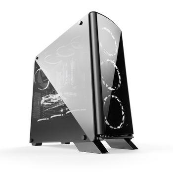 Gabinete Bluecase Gamer BG-007 Window Black - BG007GCASE