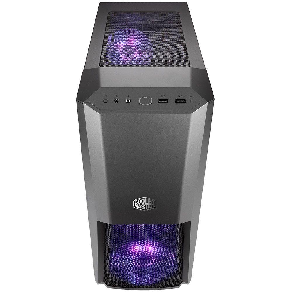 Gabinete Cooler Master Gamer MasterBox MB500 Window Black RGB LED - MCB-B500D-KGNN-S00