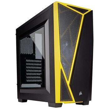 Gabinete Corsair Carbide Serie Spec-04 Black/Yellow Window White LED - CC-9011108-WW