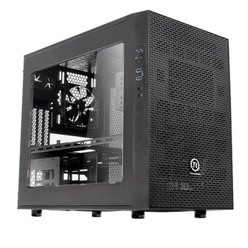 Gabinete Thermaltake Core X1 Black ITX - CA-1D6-00S1WN-00