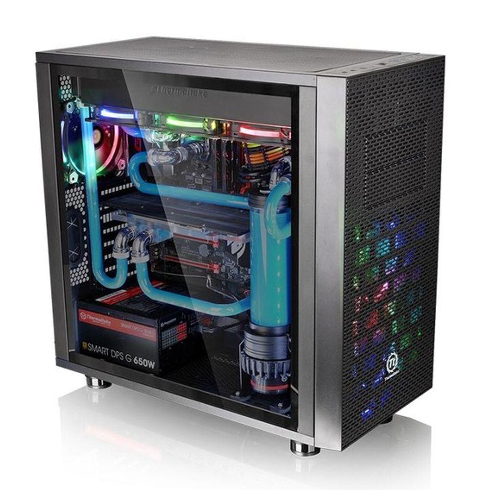 Gabinete Thermaltake Core X31 TG Edition Window Black Blue LED - CA-1E9-00M1WN-03
