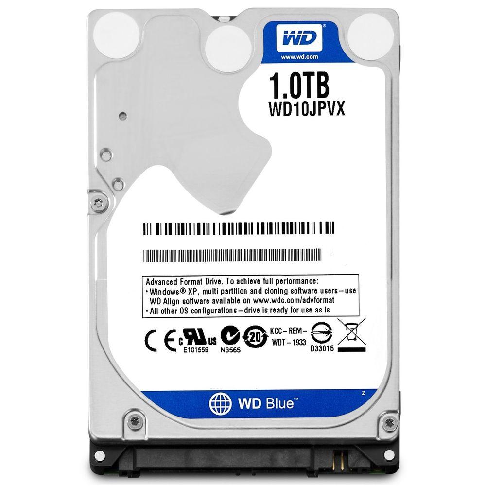 HD Notebook Western Digital WD Blue 1TB 8MB Cache 5400RPM Sata 3 - WD10JPVX