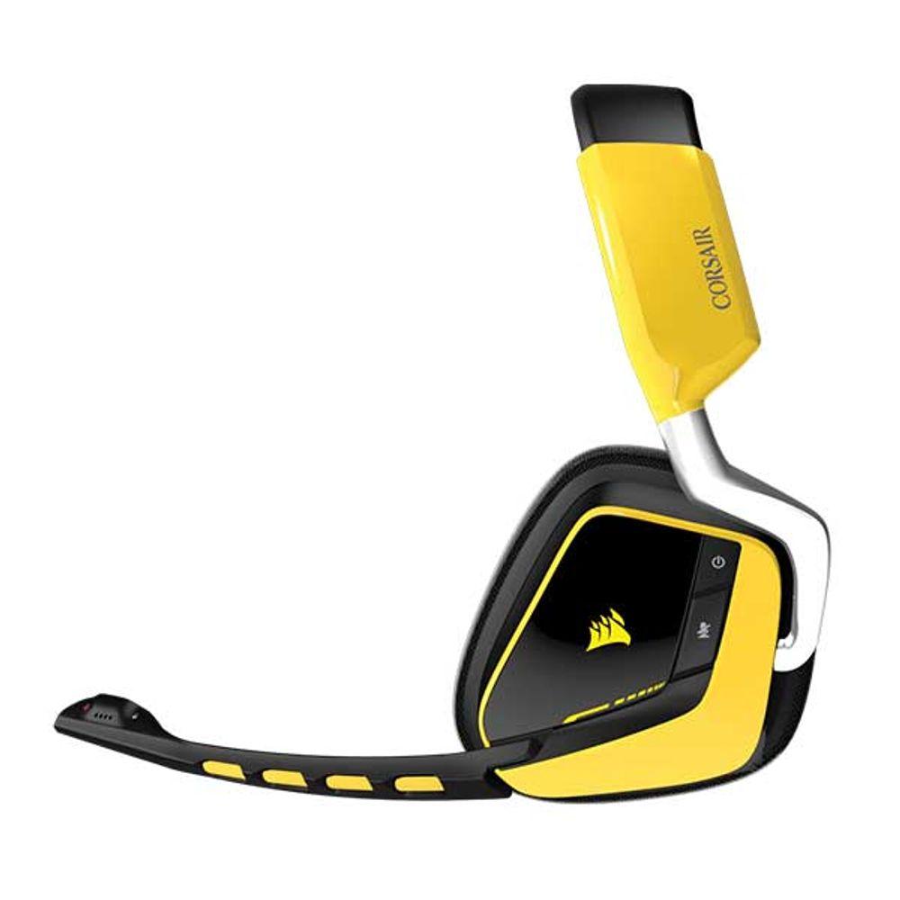 Headset Corsair Gamer Void Wireless Yellowjacket RGB LED - CA-9011135-NA