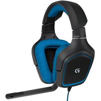 Headset Logitech Gamer G430 Black/Blue - 981-000551