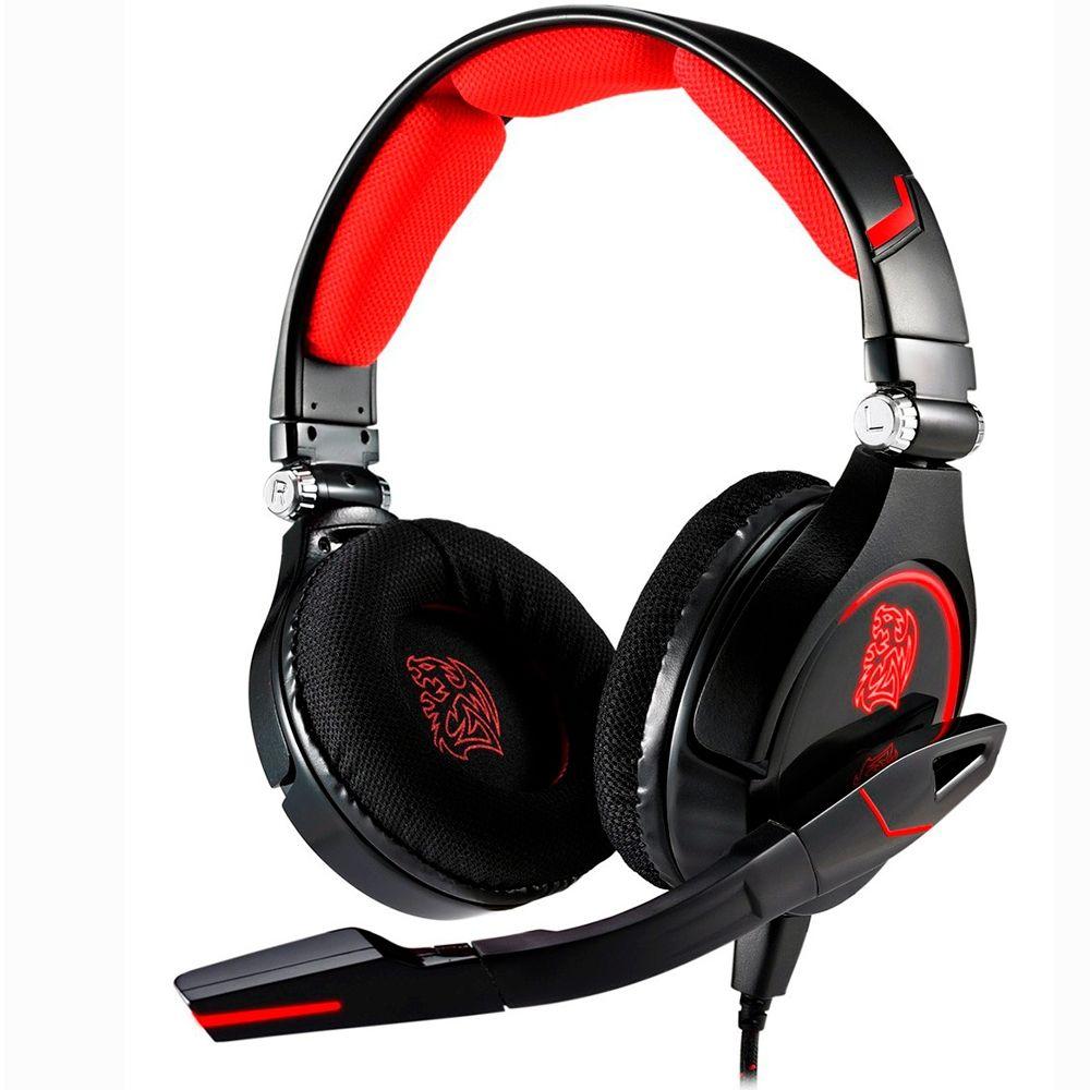 Headset Thermaltake Gamer eSports Cronos Red LED - HT-CRO008ECBL