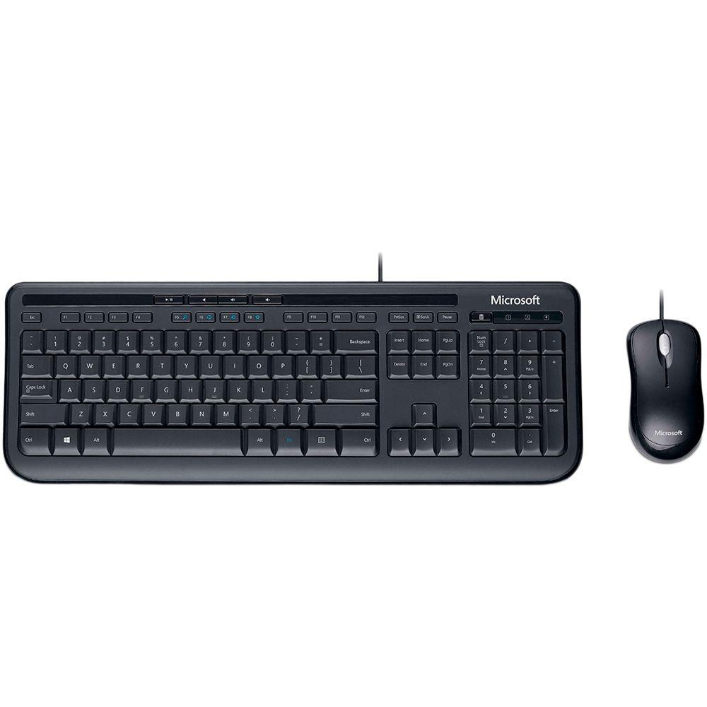 Kit Teclado e Mouse Microsoft Desktop 600 Wired - APB-00005