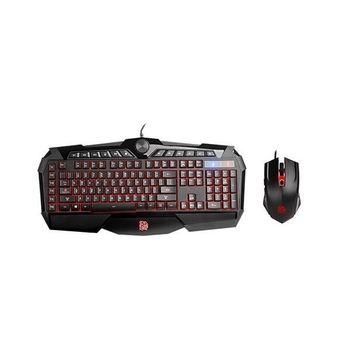 Kit Teclado Mouse Thermaltake Gamer Challenger Prime Combo RGB LED - KB-CPC-MBBRPB-01