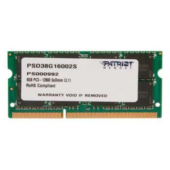 Memória Notebook Patriot Signature 8GB DDR3 1600MHz (1x8GB) - PSD38G16002S