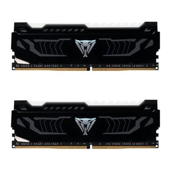 Memória Patriot Viper White Led 16GB DDR4 2400MHz (2x8GB) - PVLW416G240C4K
