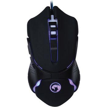 Mouse Marvo Gamer Scorpion Black Blue LED - G801-BK