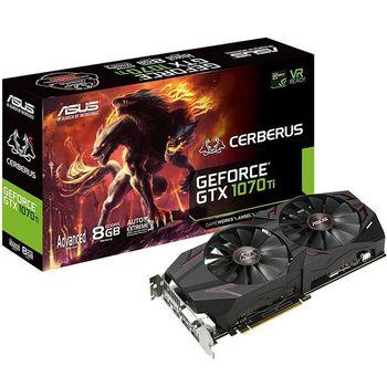 Placa de Vídeo Asus GeForce GTX 1070 Ti 8GB GDDR5 Cerberus - CERBERUS-GTX1070TI-A8G
