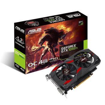 Placa de Vídeo Asus GeForce GTX 1050 Ti 4GB GDDR5 Cerberus OC - GTX1050TI-O4G