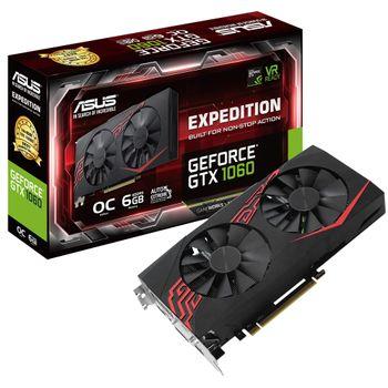 Placa de Vídeo Asus GeForce GTX 1060 6GB GDDR5 Expedition OC - EX-GTX1060-O6G