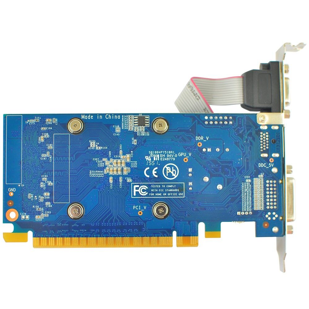 Placa de Vídeo Galax GeForce GT710 1GB DDR3 Low Profile - 71GGH4HXJ4FN