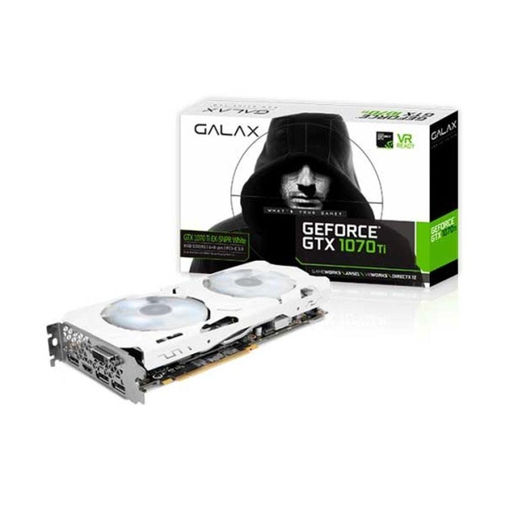 Placa de Vídeo Galax GeForce GTX 1070 Ti 8GB GDDR5 EX-Sniper White - 70ISH6DHN1WS
