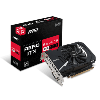 Placa de Vídeo MSI AMD Radeon RX 550 4GB GDDR5 OC Edition Mini-ITX - RX-550-AERO-ITX-4G-OC