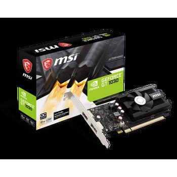Placa de Vídeo MSI GeForce GT 1030 2GB SDDR4 Low Profile OC - GT-1030-2GD4-LP-OC