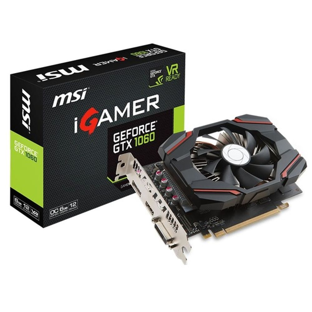 Placa de Vídeo MSI GeForce GTX 1060 6GB GDDR5 OC Edition - GTX-1060-iGAMER-6G-OC