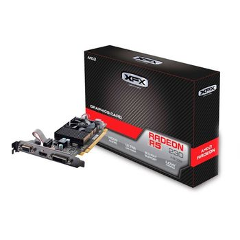 Placa de Vídeo XFX AMD Radeon R5 230 2GB DDR3 Low Profile - R5-230A-CLF2