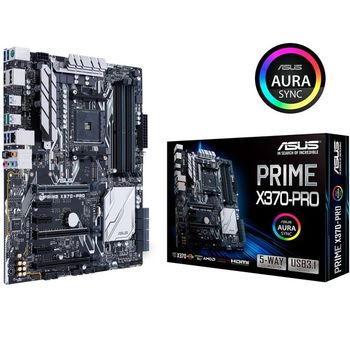 Placa Mãe Asus Prime X370- Pro Aura RGB - AM4