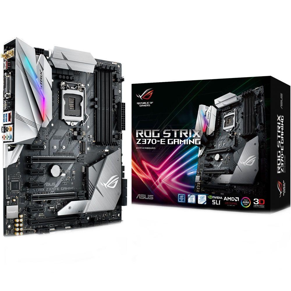 Placa Mãe Asus ROG Strix Z370-E Gaming RGB LED - LGA1151