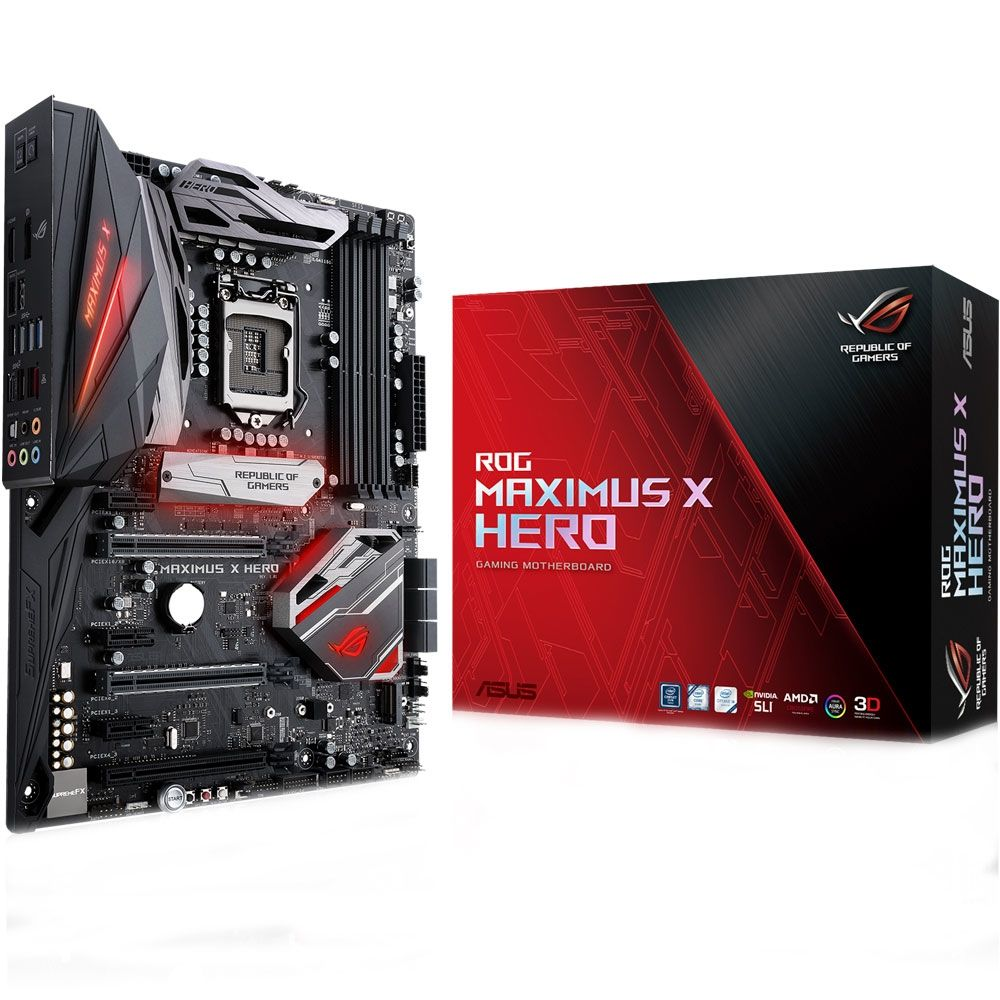 Placa Mãe Asus ROG Z370 Maximus X Hero RGB LED - LGA1151