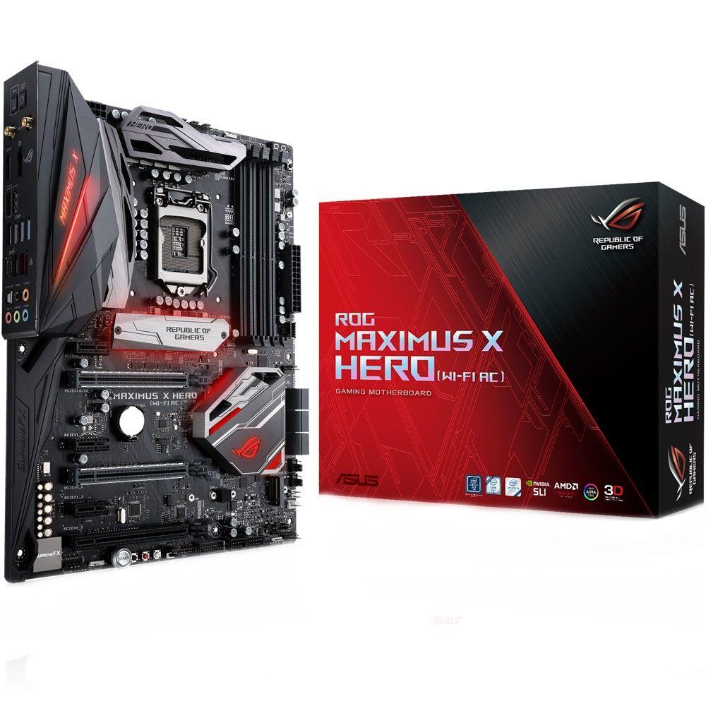 Placa Mãe Asus ROG Z370 Maximus X Hero (WiFi-AC) RGB LED - LGA1151