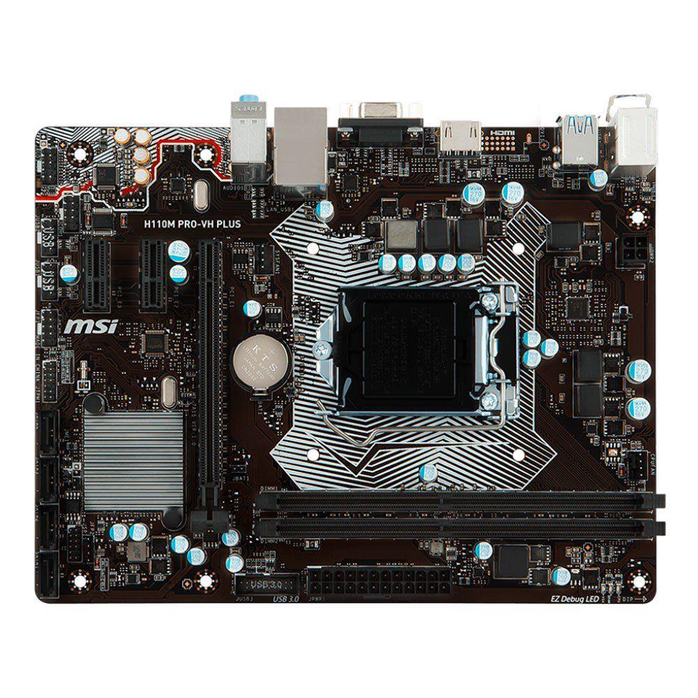 Placa Mãe MSI H110M Pro-VH Plus - LGA1151
