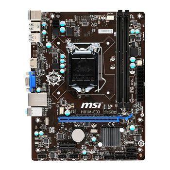 Placa Mãe MSI H81M-E33 (OEM) - Socket LGA1150