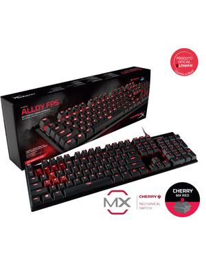 Teclado Gamer HyperX Alloy FPS Mecânico Cherry MX Red US - HX-KB1RD1-NA/A4
