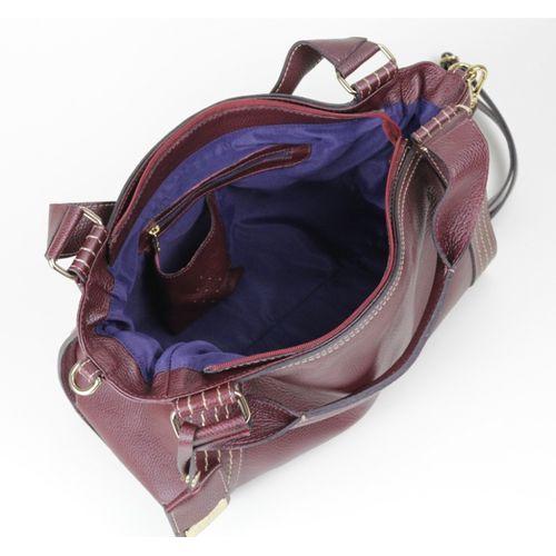 Bolsa de couro bordô Selene 10508