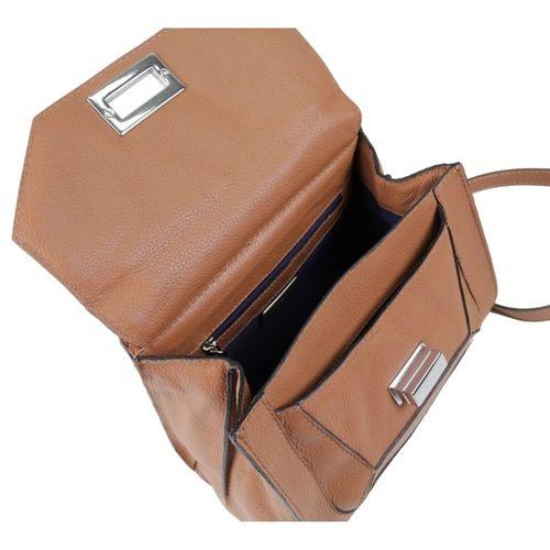 Bolsa de couro caramelo Minerva 10503