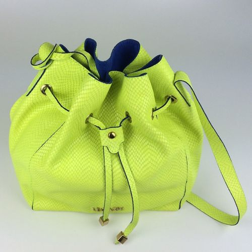 Bolsa de couro limão neon Lola