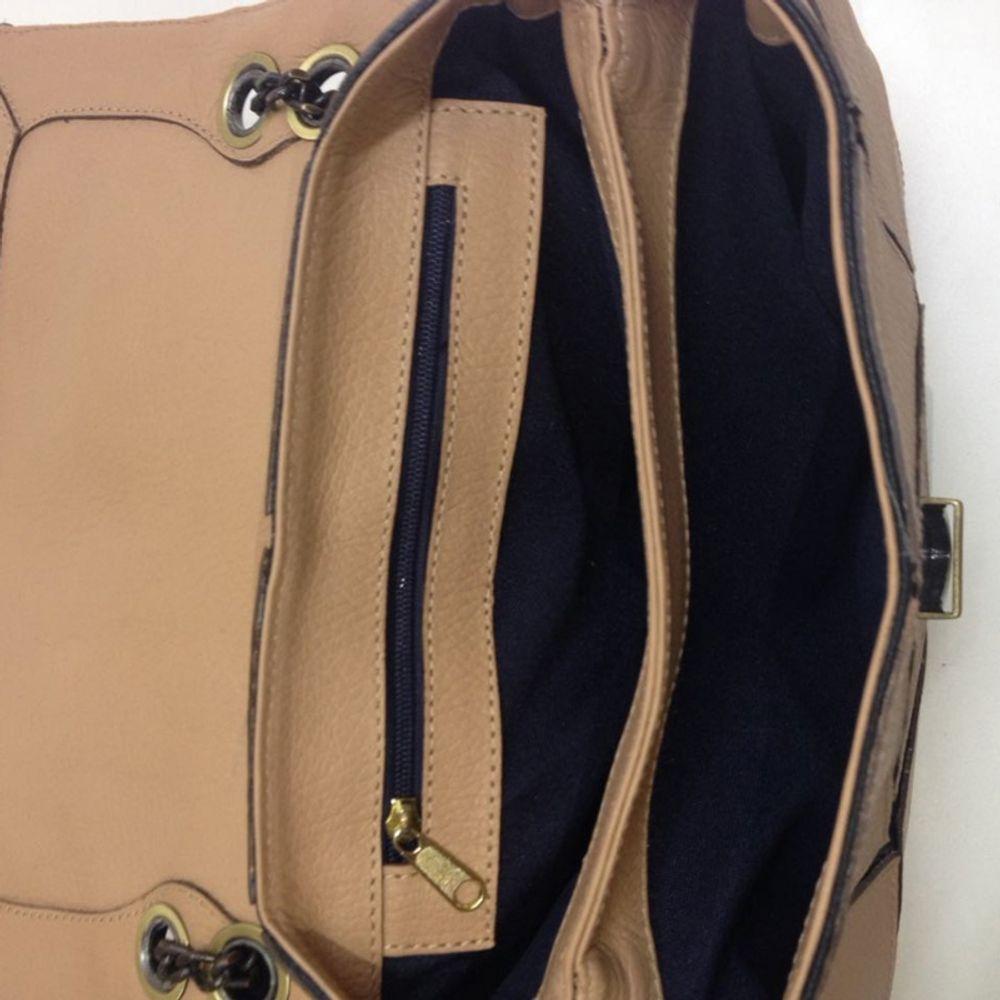 Bolsa de couro com Origami