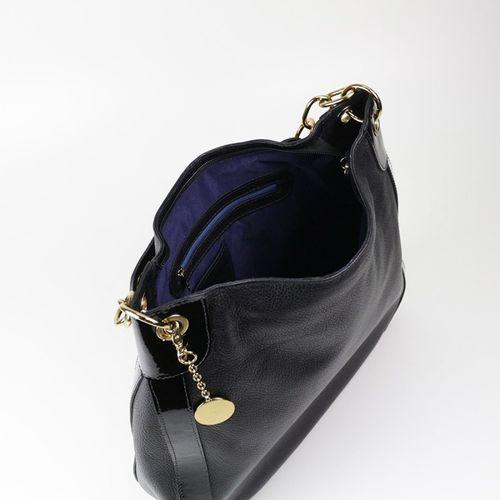 Bolsa de couro e verniz Patsy 14092