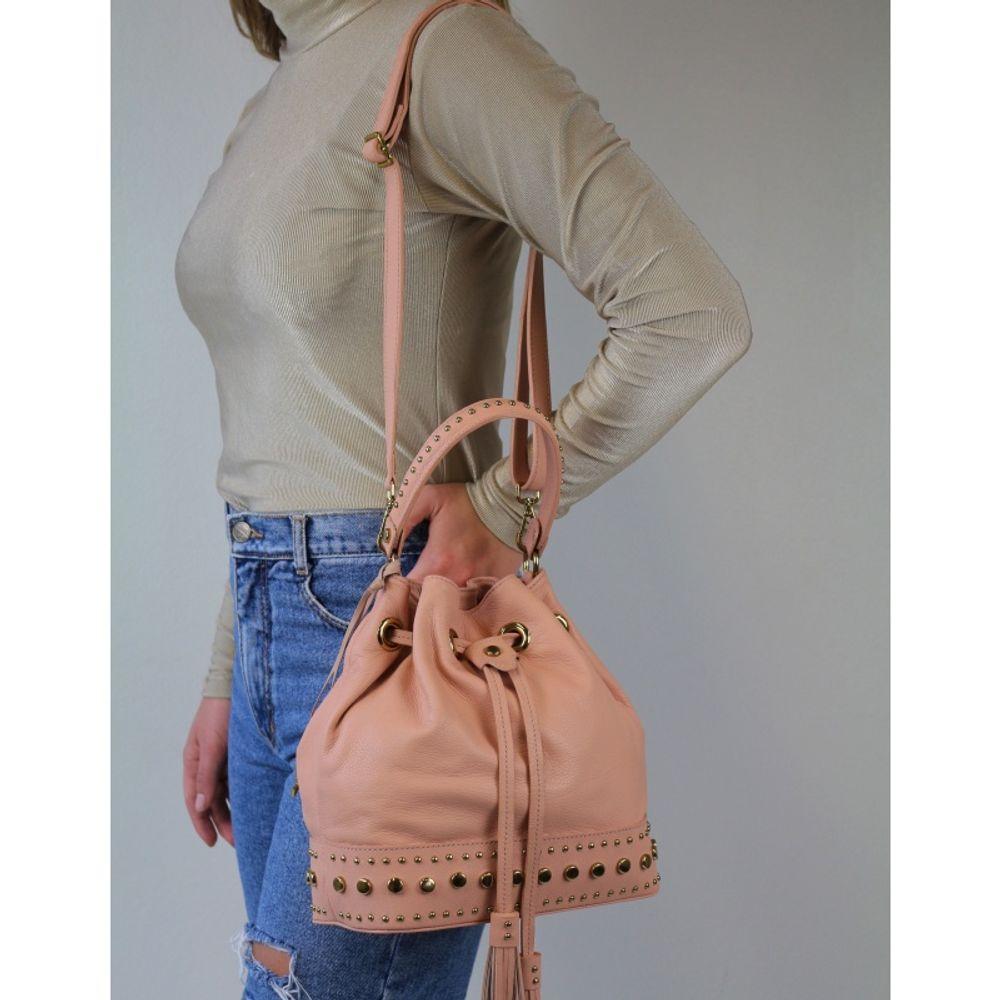 Bolsa saco de couro Amarilis 10465