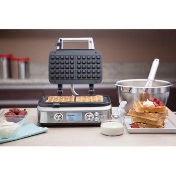 Máquina de Waffle Smart Elétrica em Aço Inox 110V by Breville Tramontina